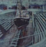 Drydock Repairs, oil on canvas