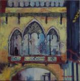 Barri Gotic, Barcelona, oil on canvas