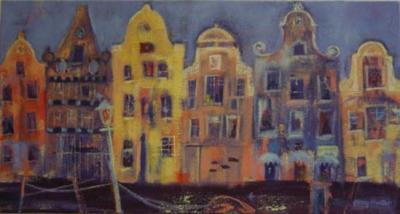 Amstel, Amsterdam, oil on canvas